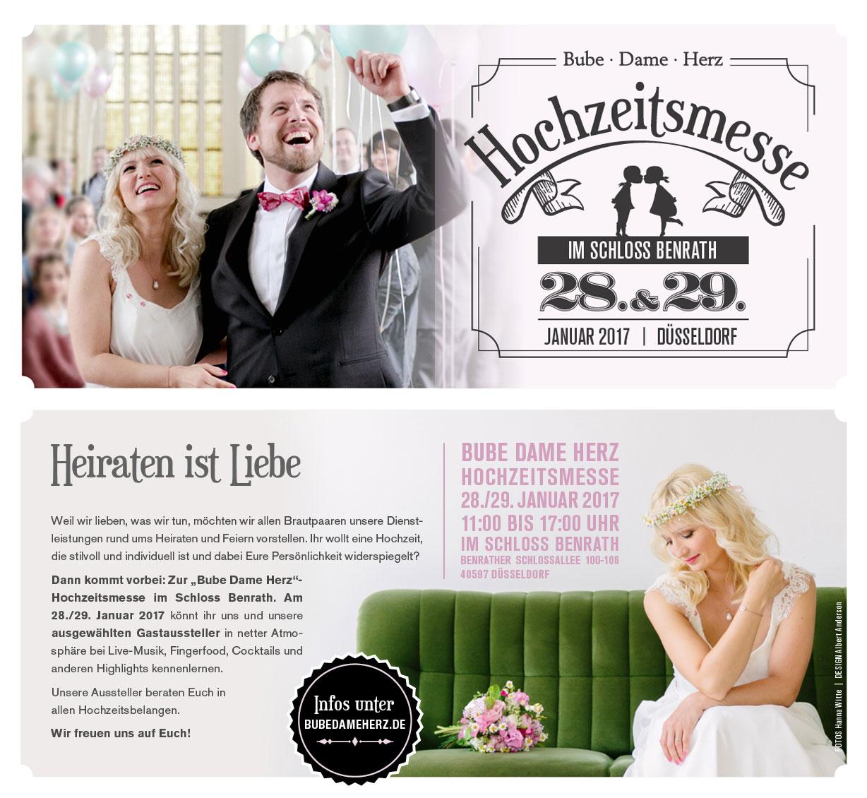 Hochzeitsmesse Düsseldorf 2017 Bube Dame Herz